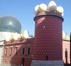 Msueo Dalí de Figueras con su cúpula reticulada